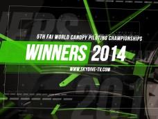 The Champions – 5th FAI World Canopy Piloting Championships 2014
