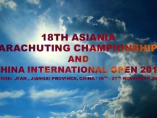 18th ASIANIA PARACHUTING CHAMPIONSHIPS and CHINA INTERNATIONAL OPEN 2017