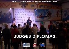 2ND FAI WORLD CUP OF WINGSUIT FLYING at Skydive Fyrosity – Judges Diplomas