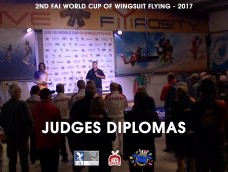 2ND FAI WORLD CUP OF WINGSUIT FLYING at Skydive Fyrosity – Judges Diplomas